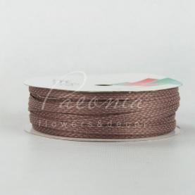 Стрічка Флористична плетена 0,6см*33м пильна роза