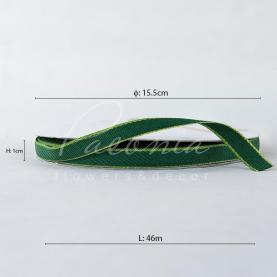 Стрічка бавовняна з кантом зелена 1см*46м