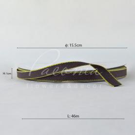 Стрічка бавовняна з кантом темно-коричнева 1см*46м