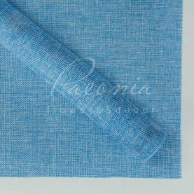 Мішковина флористична листова світло-блакитна 48см * 65см