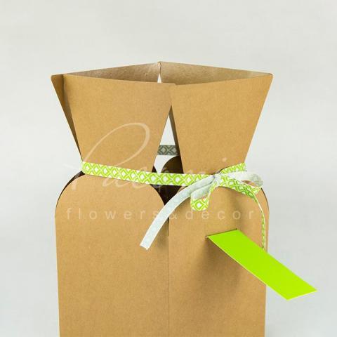 Пакет Ваза б 13*13*26 см зеленая