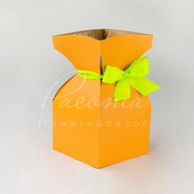 Пакет Ваза м 12*20,5см персик