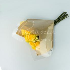 Пакет Флористичний для букета 30см*30см Аркада з прозорими косыми краями