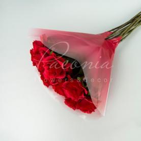 Пакет Флористичний для букета 35см*35см Ажело з ефектом градієнт червоний