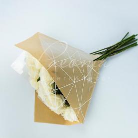 Пакет флористический для букета 35см*35см Паутинка крафт+белый