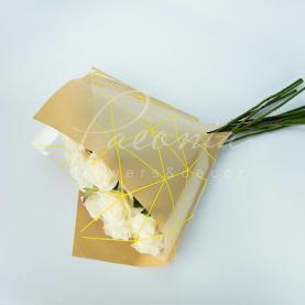 Пакет Флористичний для букета 35см*35см Павутинка крафт-жовтий
