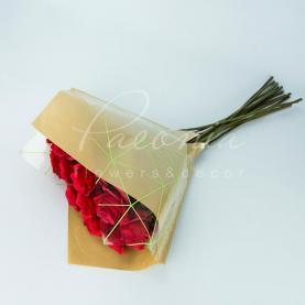 Пакет Флористичний для букета 35см*35см Павутинка крафт-зелений