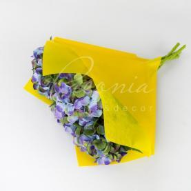 Пакет Флористичний для букета 35см*35см з Флізеліном жовтий