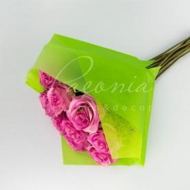 Пакет флористический для букета 35см*35см с флизелином зеленый