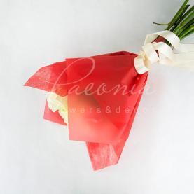 Пакет Флористичний для букета 35см*35см з Флізеліном червоний