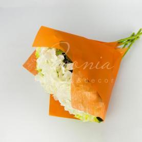 Пакет Флористичний для букета 35см*35см з Флізеліном помаранчевый