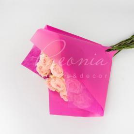 Пакет флористический для букета 35см*35см с флизелином розовый