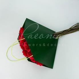 Пакет Флористичний для букета 35см*35см сумочка з ручками темно-зелений