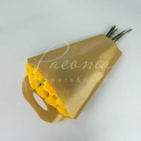Пакет Флористичний для букета 43см*33см*13см Тюльпан крафт-прозора Плівка з ручками