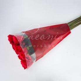 Пакет Флористичний для букета 45см*35см*10см паперові лінії червоний