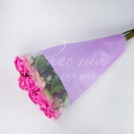 Пакет Флористичний для букета 45см*35см*10см паперові лінії лаванда