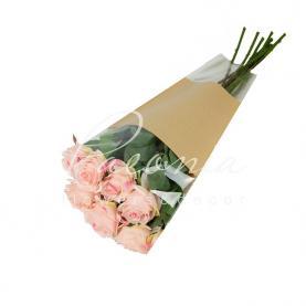 Пакет Флористичний для букета 50см*30см*10см Роза крафт+прозора Плівка