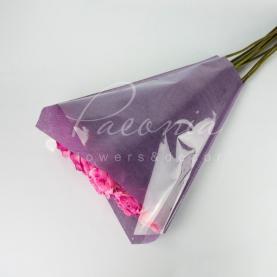 Пакет флористический для букета 50см*44см*12см сатин фиолетовый