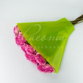 Пакет флористический для букета 50см*52см*14см крафтлайн реarl зеленый