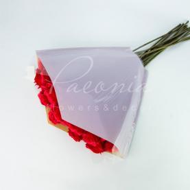 Пакет Флористичний для букета 51см*51*12см крафт лавандовий з прозорими косыми углами