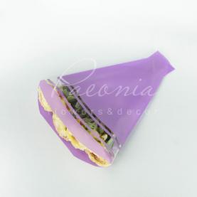 Пакет Флористичний для букета 52*35*10см смуги лавандовий