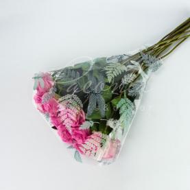Пакет флористический для букета 52*44*12 с принтом стрекозы