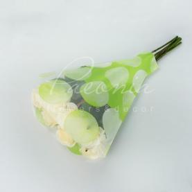 Пакет Флористичний для букета 52см*35см*10см горох зелений