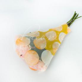 Пакет Флористичний для букета 52см*35см*10см горох помаранчевый