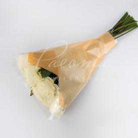 Пакет Флористичний для букета 52см*35см*10см дуофибр помаранчевый