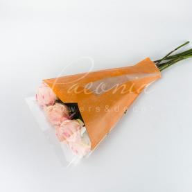 Пакет флористический для букета 52см*35см*10см крафтлайн оранжевый