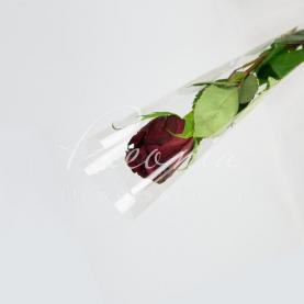 Пакет флористический для розы прозрачный 65см*13см*0.3см