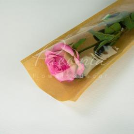 Пакет флористический для розы 65см*16см*0,3см крафт с прозрачным окном
