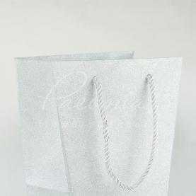 Пакет флористичний з картону сріблястий 20 * 16,5 * 11см