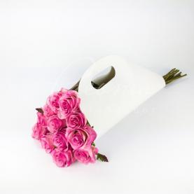 Пакет паперовий під руку білий h 52см