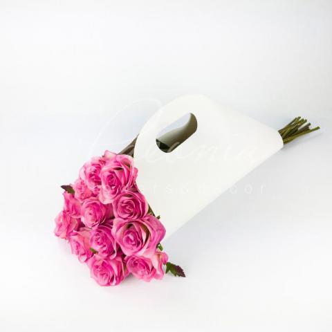 Пакет картонный под руку белый h 52см