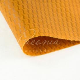 Пенопрен флористичний водостійкий листовий велика хвиля коричневий 60см * 60см