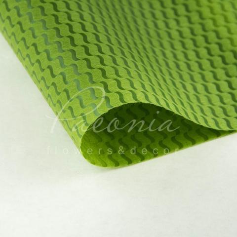 Пенопрен флористический водостойкий листовой 60см*60см крупная волна оливка