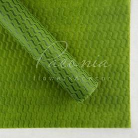 Пенопрен Флористичний водостійкий листовий 60см*60см велика хвиля оливка