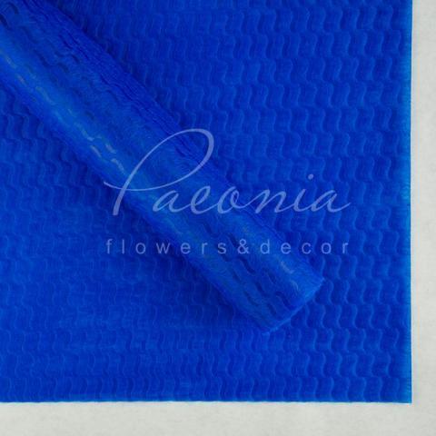 Пенопрен флористический водостойкий листовой 60см*60см крупная волна синий