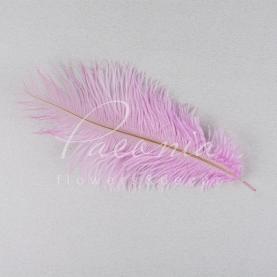 Перо страусиное декоративное розовое 20-25 см