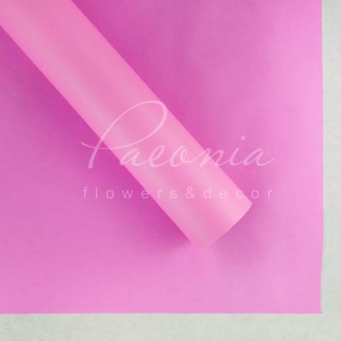 Пленка флористическая матовая 70см*10м розовая