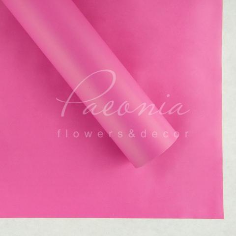 Пленка флористическая матовая 70см*10м темно-розовый