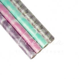 Плівка флористична матова напівпрозора з принтом мікс 70см * 10м