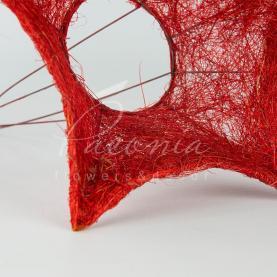 Підставка для букета з сизалю d25см зірка новорічна червоний