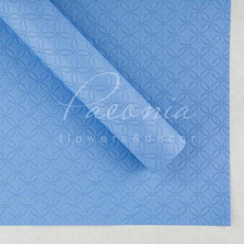 Папір водостійкий Тиснення блакитний 60см*60см 1 лист