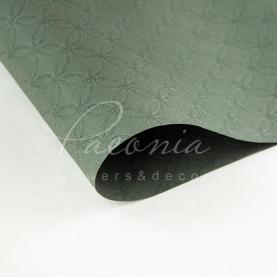 Папір для пакування квітів водостійкий листовий з тисненням сірий 60см * 60см