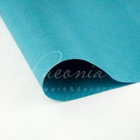 Папір для пакування квітів водостійкий листовий з тисненням синій 60см * 60см