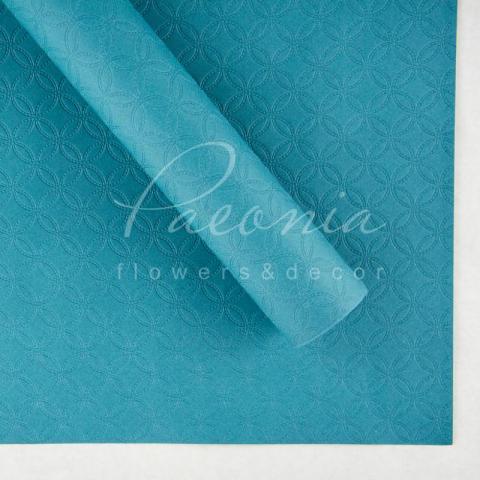Бумага водостойкая Тиснение синий 60см*60см 1 лист