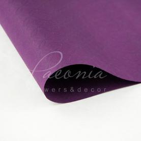 Бумага для упаковки цветов водостойкая листовая с тиснением сиреневая 60см*60см