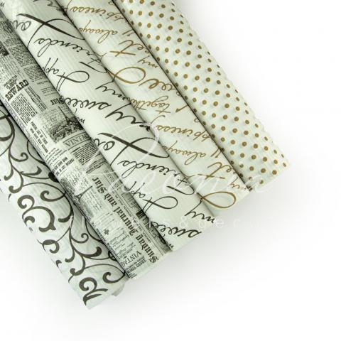 Папір гофрований мікс в рулоні білий 70 см*10 м